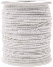 Ogquaton Núcleo de la Vela de Bricolaje Mechas con Velas de algodón y Humo bajo para Hacer Velas Uso de Bricolaje 1PCS Blanco