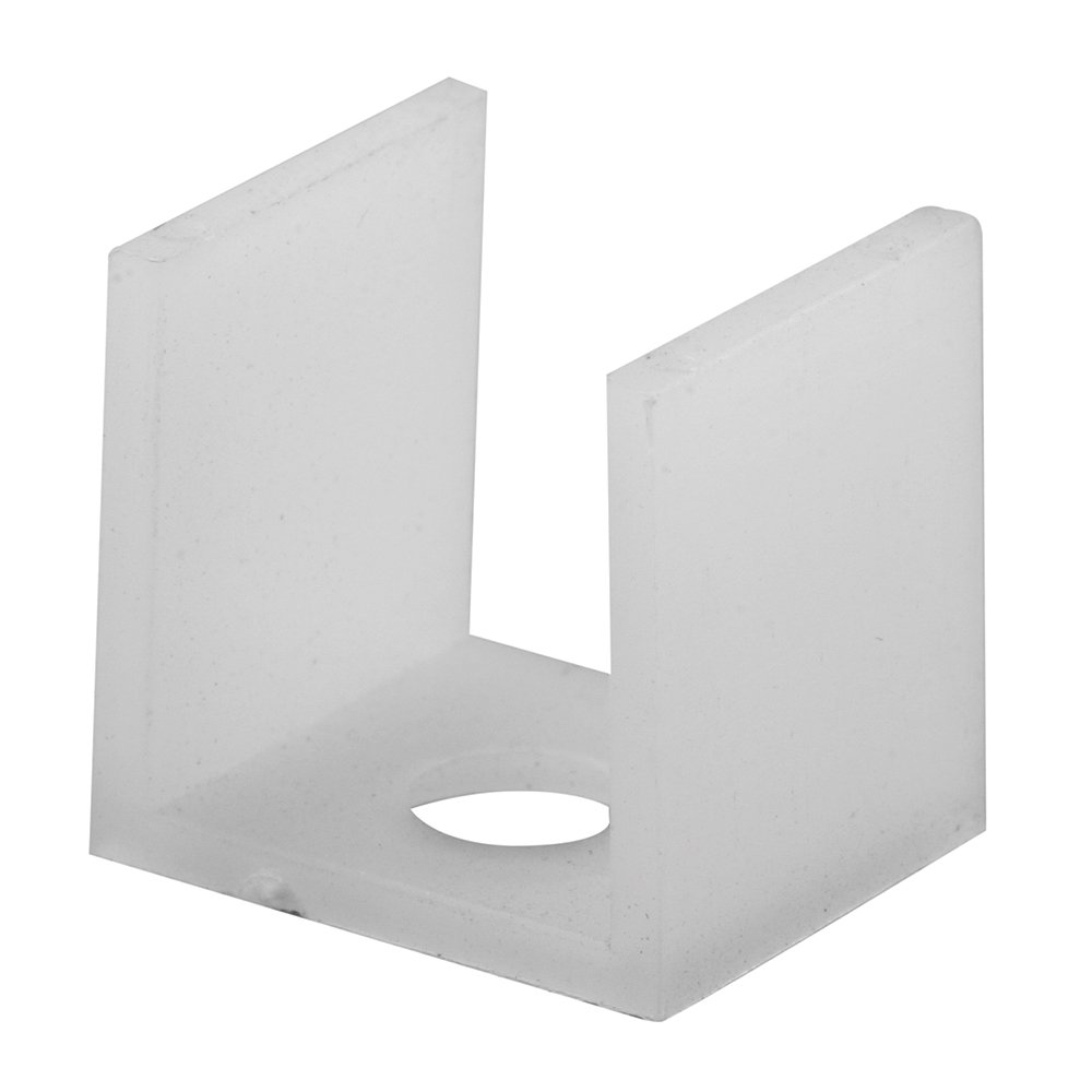 Pack of 2 Prime-Line Products M 6063 Sliding Shower Door Bottom Guide,