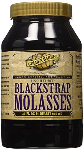 Golden Barrel Unsulfured Black Strap molasses, 32 oz ()