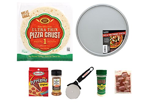 Pizza Gift - Italian Food Gift - Complete Box Meal - Complete Meal Kit - Pizza Kit Survival Gift - College Dorm Care Packages - Campus Care Package - (Pepperoni Pizza)