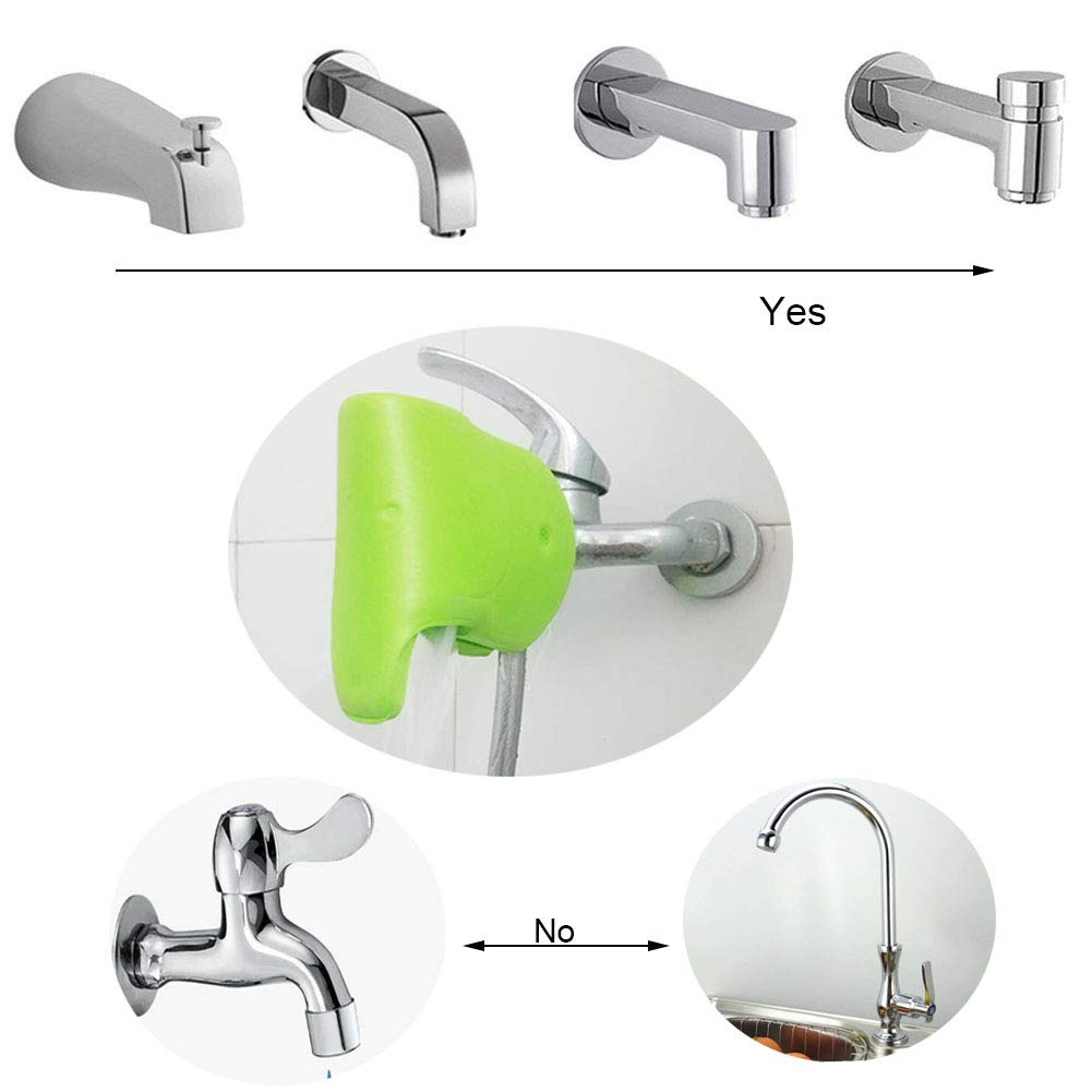 Cute Elephant Tub Spout Cover with 4 pcs Soft Baby Proofing Corner Guards Protectors Bath Spout Cover Bathtub Faucet Cover and Corner Covers Baby Safe Protection for Bathroom