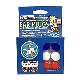 Putty Buddies–Tapones para los oídos 3-Pair Pack–Tapones de silicona suave flotante para la natación & baño, Inventado Por Médico–Keep Out–de agua Premium–Tapones para los oídos de natación Doctor recomendado, azul/borgoña/rojo