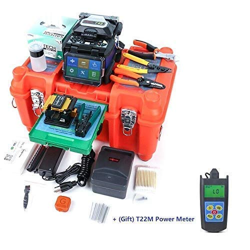 Orientek Core Alignment Fusion Splicer T45 Fiber Splicing Machine Splicing time 7s Heating time 18s (GIFT) Optical Power Meter T22M by FEDEX/UPS/DHL