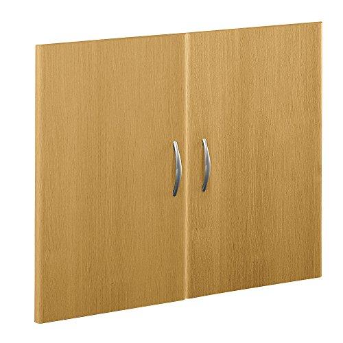 Light Oak Half Height Door - Bush Business Furniture Series C Collection Half-Height 2 Door Kit in Light Oak