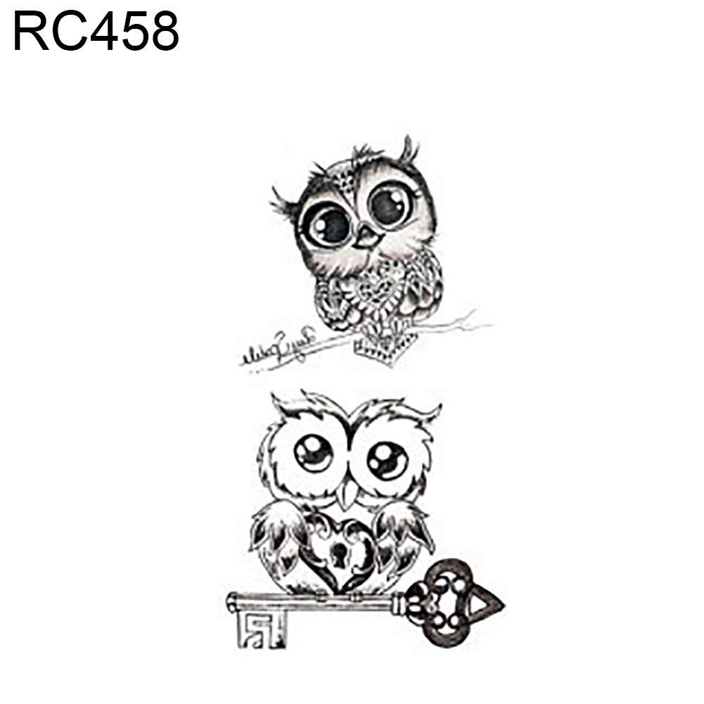 Cute Animal Feather Body Art Men Women Waterproof Temporary Fake Tattoo Sticker - RC458 SoundsBeauty