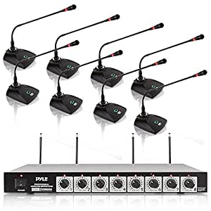 pyle pdwm8300 professional conference desktop vhf wireless microphone system home. Black Bedroom Furniture Sets. Home Design Ideas