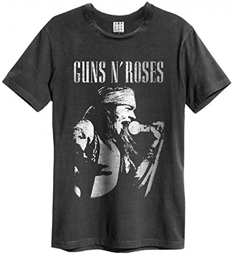 Amplified Guns n Roses Axel Rose Profile T-Shirt, Größe:L;Farbe:charcoal