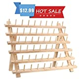 KINGSO 60 Spool Wooden Thread Rack and Organizer for Sewing Quilting Embroidery