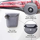 Kurgo Tailgate Dumpster for Dog Garbage & Poop Bags | Magnet Trash Bin for Cars, SUVs, Or Trucks | Attaches to Tailgate/Bumper | Car Waste Basket for Pets | Dog Travel Accessories | Easy to Clean