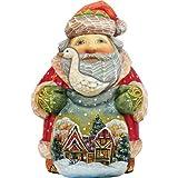 "G. Debrekht Christmas Goose Santa Gift Bag, 5"" for sale  Delivered anywhere in USA"