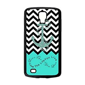 Live The Life You Love,Love The Life You Live.Black White Chevron & Anchor Infinity Symbol Personalize Custom Samsung Galaxy S4 ACTIVE Best Plastic Hard Case