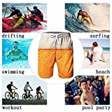 RAISEVERN Men's Swimming Trunks Guys Swimsuits Cool Oktoberfest Beer Drink Surf Board Shorts Bathing Suits for Male Boy Quick-Dry Summer Holiday Swim Shorts with Pockets