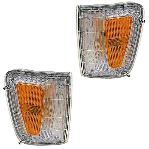1993-1998 Toyota T-100 T100 Pickup Truck Park Corner Light Turn (Light Lamp Pair Set)
