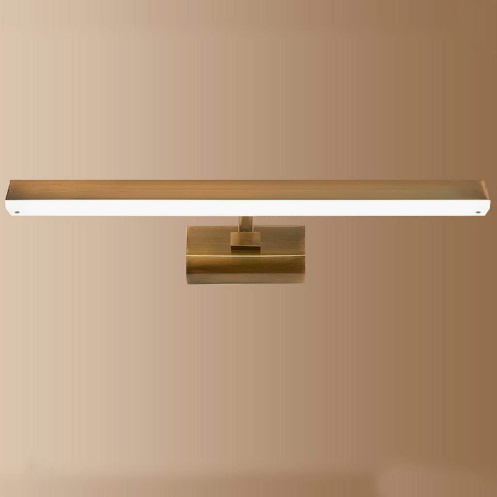 Home LED-Spiegel Scheinwerfer Badezimmer Wand Lampe Moderne, minimalistische amerikanische Galvanik Imitation Kupfer Bad Beleuchtung (Größe  18 W 43  12  22 cm)