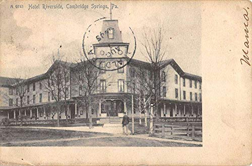 Riverside Spring - Cambridge Springs Pennsylvania Hotel Riverside Antique Postcard K105331