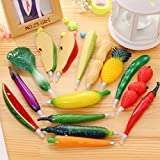 Novelty Pens Vegetable and Fruit Ballpoint Pens Creative Gift Pen Writing Pens Stationery School Office Suppliers Pack of 14
