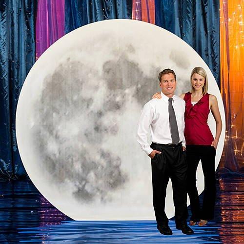 Giant Moon Standee Cutout Prop (Halloween Photo Op Cutouts)
