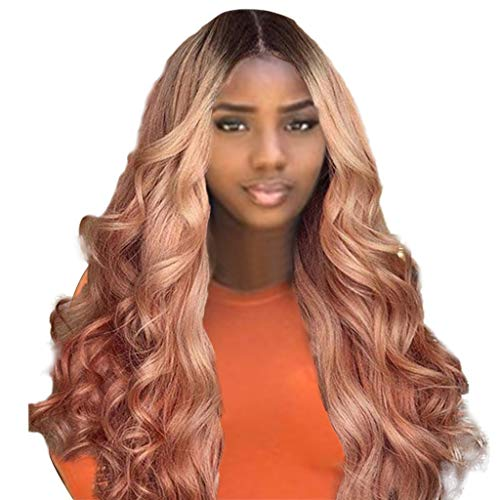 JPJ(TM)Long Curly Wig for Brazilian Remy Human Hair Body Wave Wig Women Sexy Charming Lace Front Human Hair Wigs 70cm