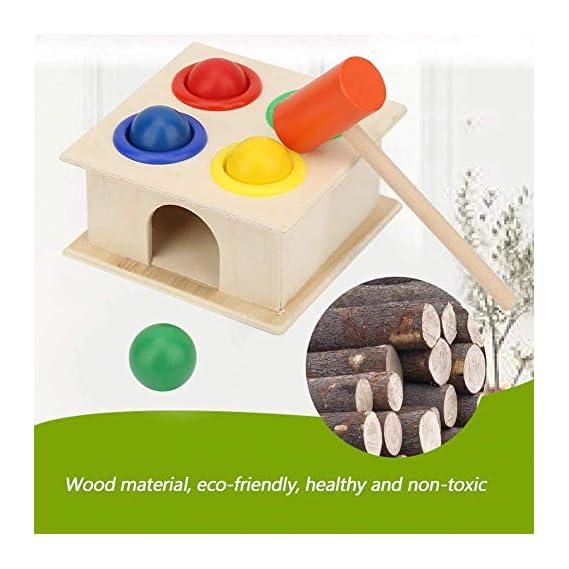 BabyGo Wooden Hammer Case Toy for Kids (30 x 1.5 x 22 cm)