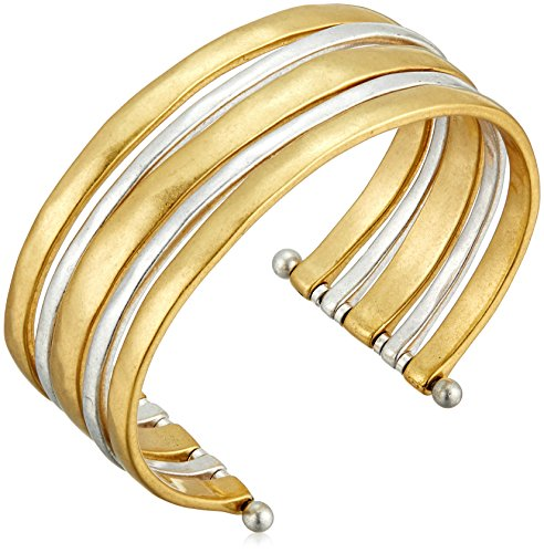 (Lucky Brand Two Tone Cuff Bracelet)