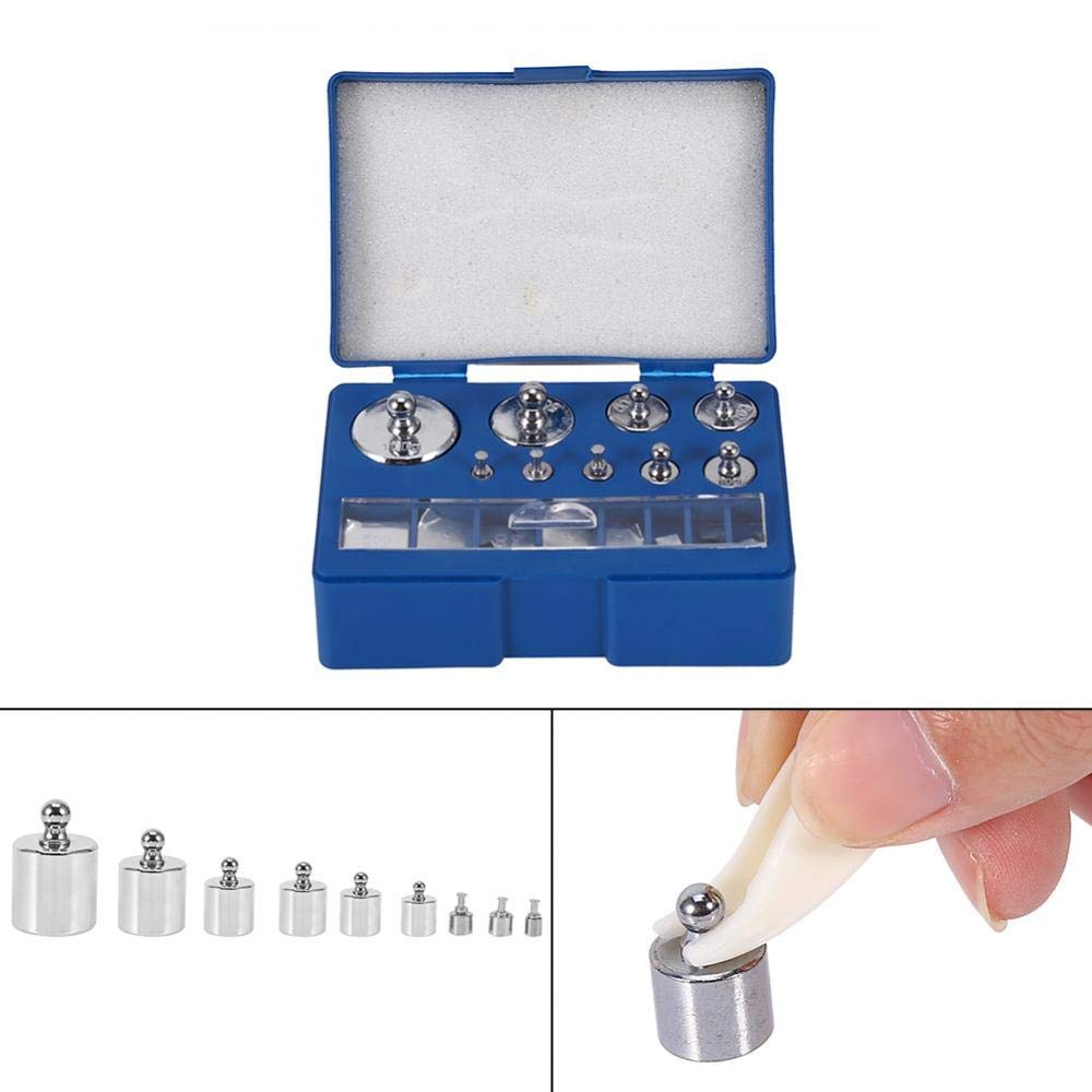 10mg-100g ,Gplit Type Steel Calibration Weight Kit with Sheet Mini Weight 200g Grams Precision Calibration Scale Balance Weight Set