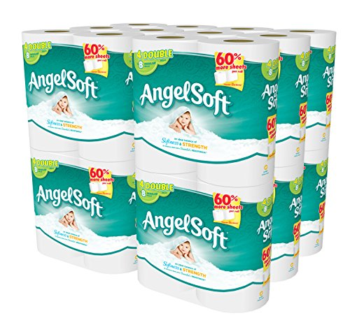 Price comparison product image Angel Soft 48 Double Rolls Bath Tissue, 4 Count (Pack of 12)