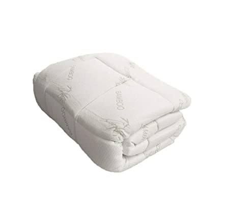44c91db5334 Luxurious Bamboo Fitted Mattress Pad, Snug fit Topper. Extra Plush, Extra  Soft (Twin XL): Amazon.co.uk: Kitchen & Home