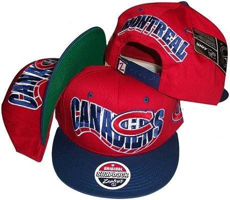 Montreal canadienses dos tono rojo/azul Gorra Ajustable Plástico ...