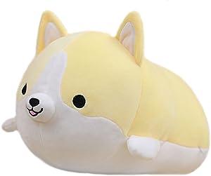 Corgi Soft Plush Throw Pillow Lifelike Animal Pillows Plush Toy