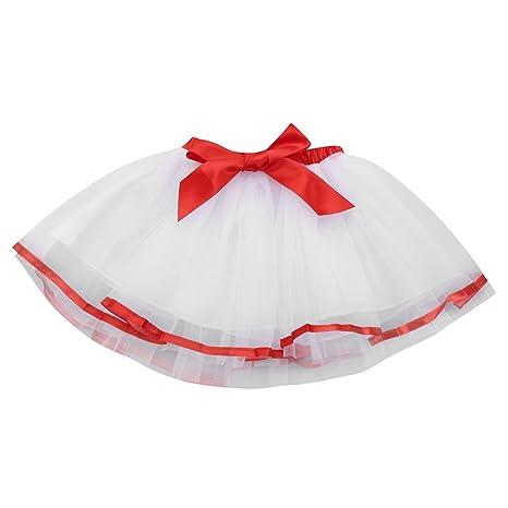 feiXIANG Linda Princesa del bebé Vestido Tutu niño niña Color sólido Arco Tutu Falda de Rendimiento Falda de Ballet Fiesta de Lujo Falda