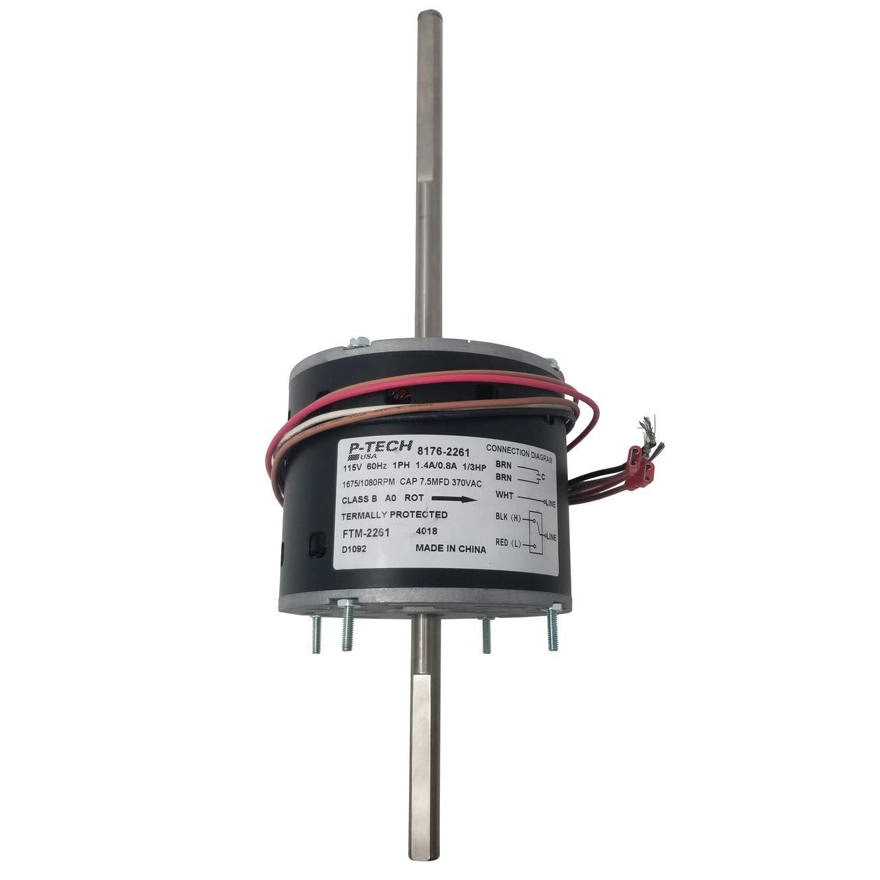2-Speed RV Air Conditioner Motor | Replaces: Fasco D1092