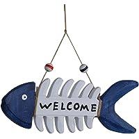 WINOMO placa decorativa para colgar de madera Welcome