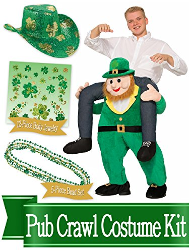 BirthdayExpress ST Patricks Day Leprechaun Rider Costume and Accessory Kit (Leprechaun Costume Kit)