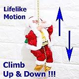 Nice--buy Christmas Xmas Santa Claus Figure Rope Climbing 8' Funny Plush Electric Toy Gift Stuffed Santa Toys with Xmas Music