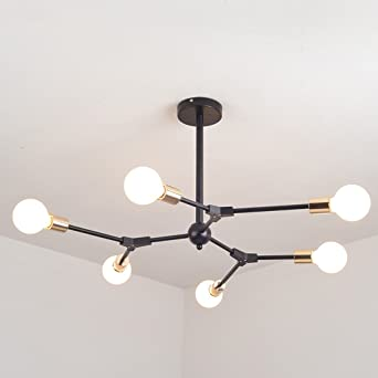 $Beleuchtung Moderne Kronleuchter Beleuchtung Restaurant Kronleuchter  Hängelampe Decke Kronleuchter Mit 6 Lichter Kreative Molekül Kronleuchter