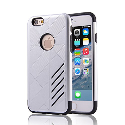 """HYAIT® For IPHONE 6 4.7"""" [CONTRAST]Case Dual Layer Hybrid Armor Rugged Plastic Hard Shell Flexible TPU Bumper Protective Cover-XJAE08"""