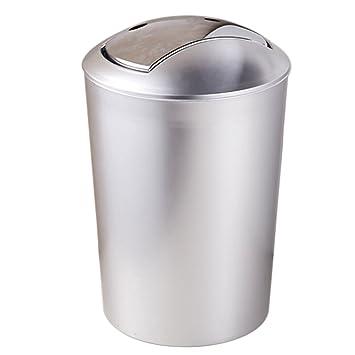 Lommer 10 L Plastik Rund Silber Mulleimer Modern Einfach Papierkorb