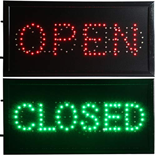 CHENXI Open & Closed 2 in 1 LED Sign Store Neon Business Bar Shop Closed Light On/Off Switch 48 X 25 cm (48 X 25 cm, -