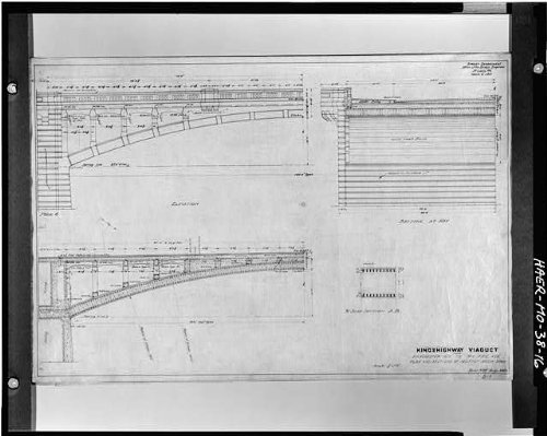 HistoricalFindings Photo: Kingshighway Viaduct,Railroad Tracks,Saint Louis,Missouri,MO,HABS,Survey,15