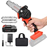 """Mini Cordless Chainsaw Kit, Upgraded 4"""" One-Hand"""