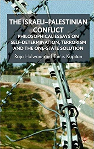 the i palestinian conflict philosophical essays on self  the i palestinian conflict philosophical essays on self determination terrorism and the one state solution 2008th edition