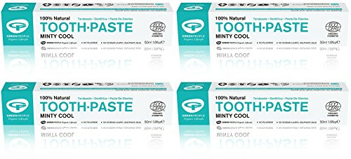 Minty Green - (4 PACK) - Green People - Minty Cool Toothpaste   50ml   4 PACK BUNDLE