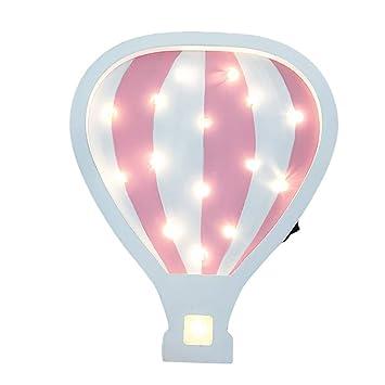 JYSPT Globo de Aire Caliente LED Lámparas de Noche Lámparas de Mesa de luz de marquesina Lámparas de Mesa Decoración de la Pared Chicas Habitación de ...