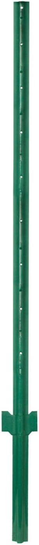 Garden Zone Utility Fencing Light-Duty Steel Fence Post (10 Pack), Green, 3'