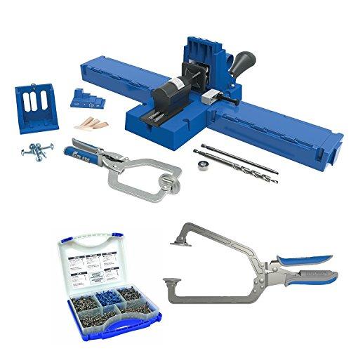Kreg K5MS w/ Pocket-Hole Screw Kit (5-Sizes) & & Large Face Clamp