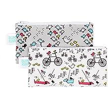 Bumkins Reusable Snack Bag Small 2 Pack, Bird Park & Urban Bird (N15)