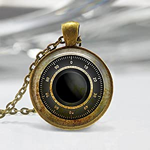 pendant gold necklace riley lock product burch in gallery jewelry tory key metallic lyst
