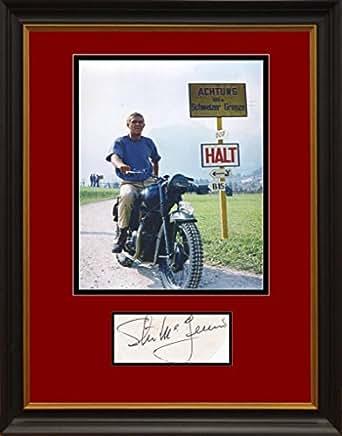 Steve McQueen Signed Display. Framed. JSA