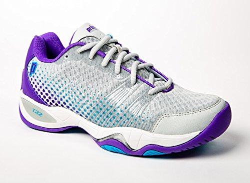 - Prince T22 Lite Women's Tennis Shoes (Gray/Purple/Blue) (6.5 B(M) US)