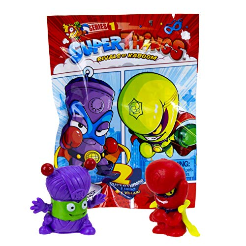 SuperThings Series 1 - Two Pack by Goliath - Blind Bag Contains 1 Superhero, 1 Supervillain & 1 Checklist